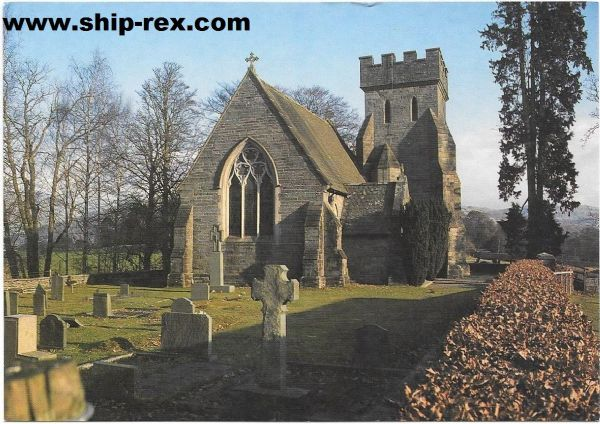 Low Wray, Cumbria, St. Margarets' Church - postcard